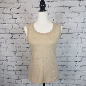 Escada Sport Tan Heather Knit Sleeveless Sweater